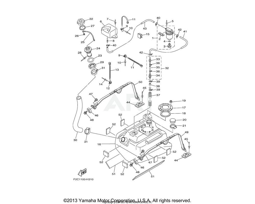 Yamaha OEM F1W-U7711-03-00 TANK, FUEL