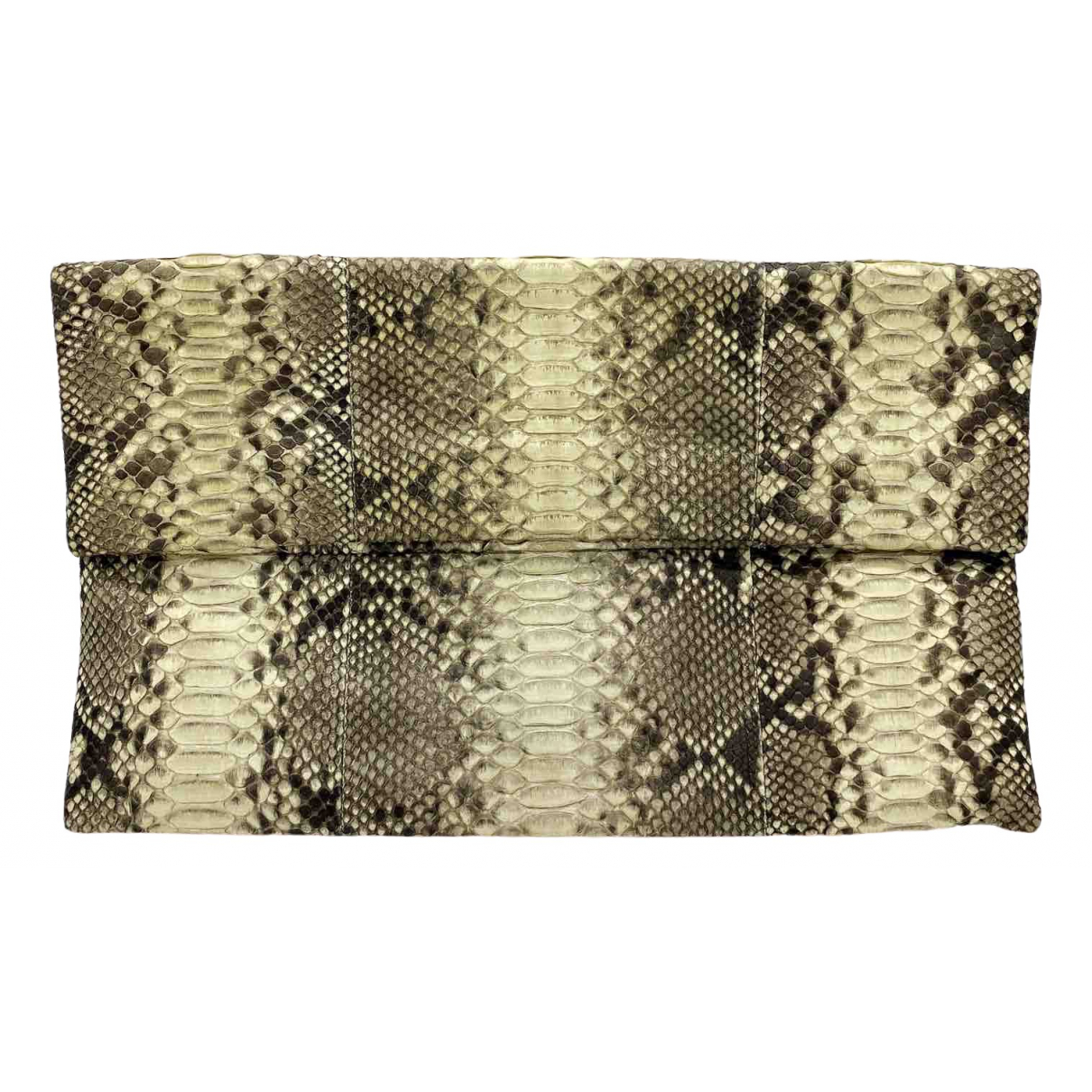 Non Signé / Unsigned \N Beige Python Clutch bag for Women \N