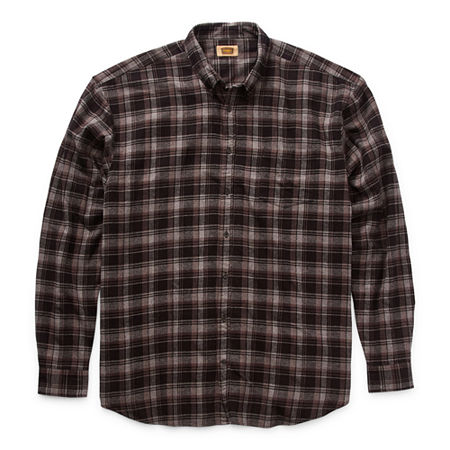 The Foundry Big & Tall Supply Co. Big and Tall Mens Long Sleeve Flannel Shirt, 6x-large , Black