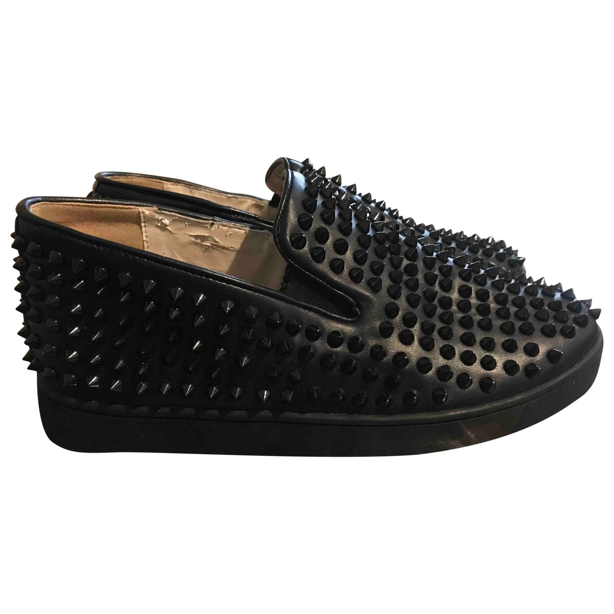 Christian Louboutin Roller Boat Black Leather Trainers for Men 43 EU