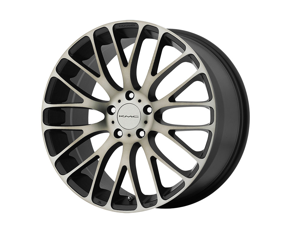 KMC KM693 Maze Wheel 20x8.5 5x5x112 +40mm Satin Black W/ Machined Face and Tinted Clear