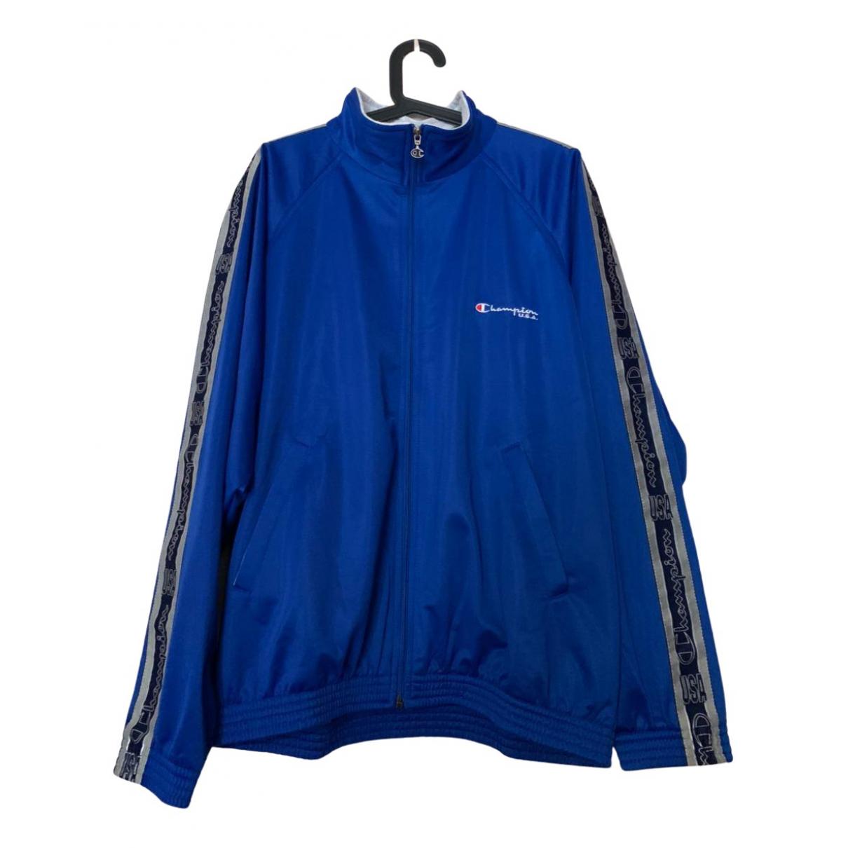 Champion \N Pullover.Westen.Sweatshirts  in  Blau Polyester