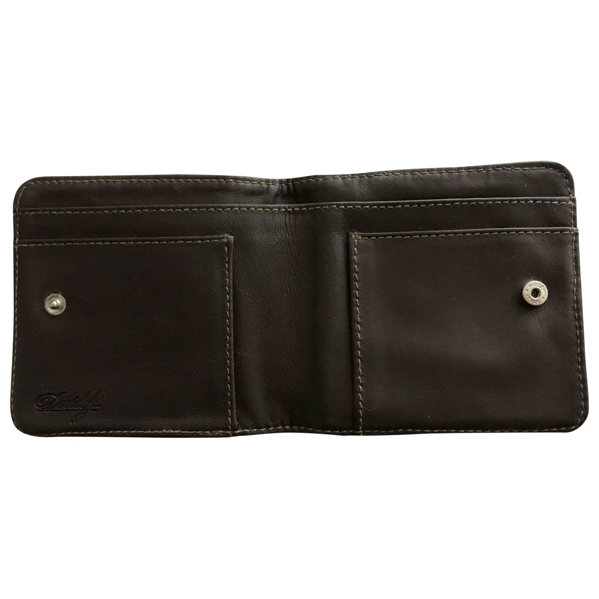 Davidoff \N Brown Leather Small bag, wallet & cases for Men \N
