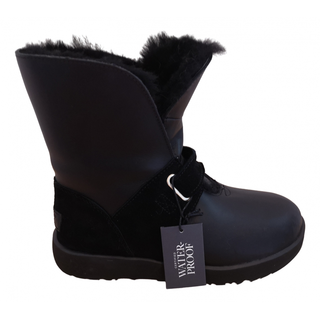 Ugg \N Black Suede Ankle boots for Women 37 EU
