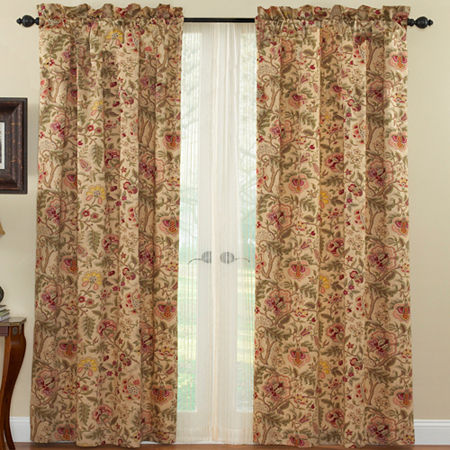 Waverly Imperial Dress Rod-Pocket Curtain Panel, One Size , Brown
