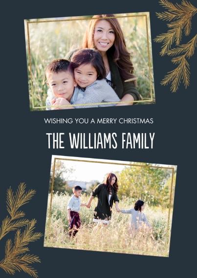 Christmas Photo Cards 5x7 Cards, Premium Cardstock 120lb, Card & Stationery -Elegant Foliage