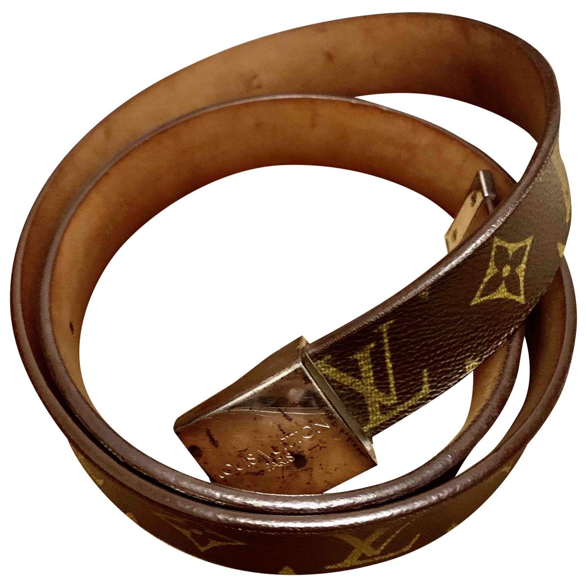 Louis Vuitton \N Brown Cloth belt for Women 80 cm