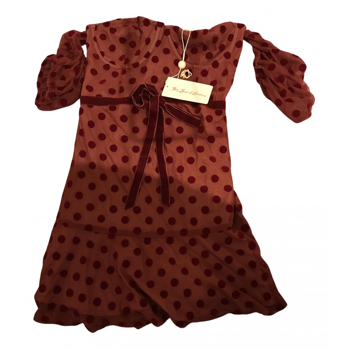 For Love & Lemons \N Kleid in  Rot Polyester