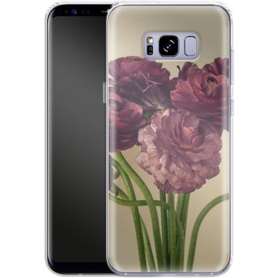 Samsung Galaxy S8 Plus Silikon Handyhuelle - Purple Ranunculus 4 von Joy StClaire