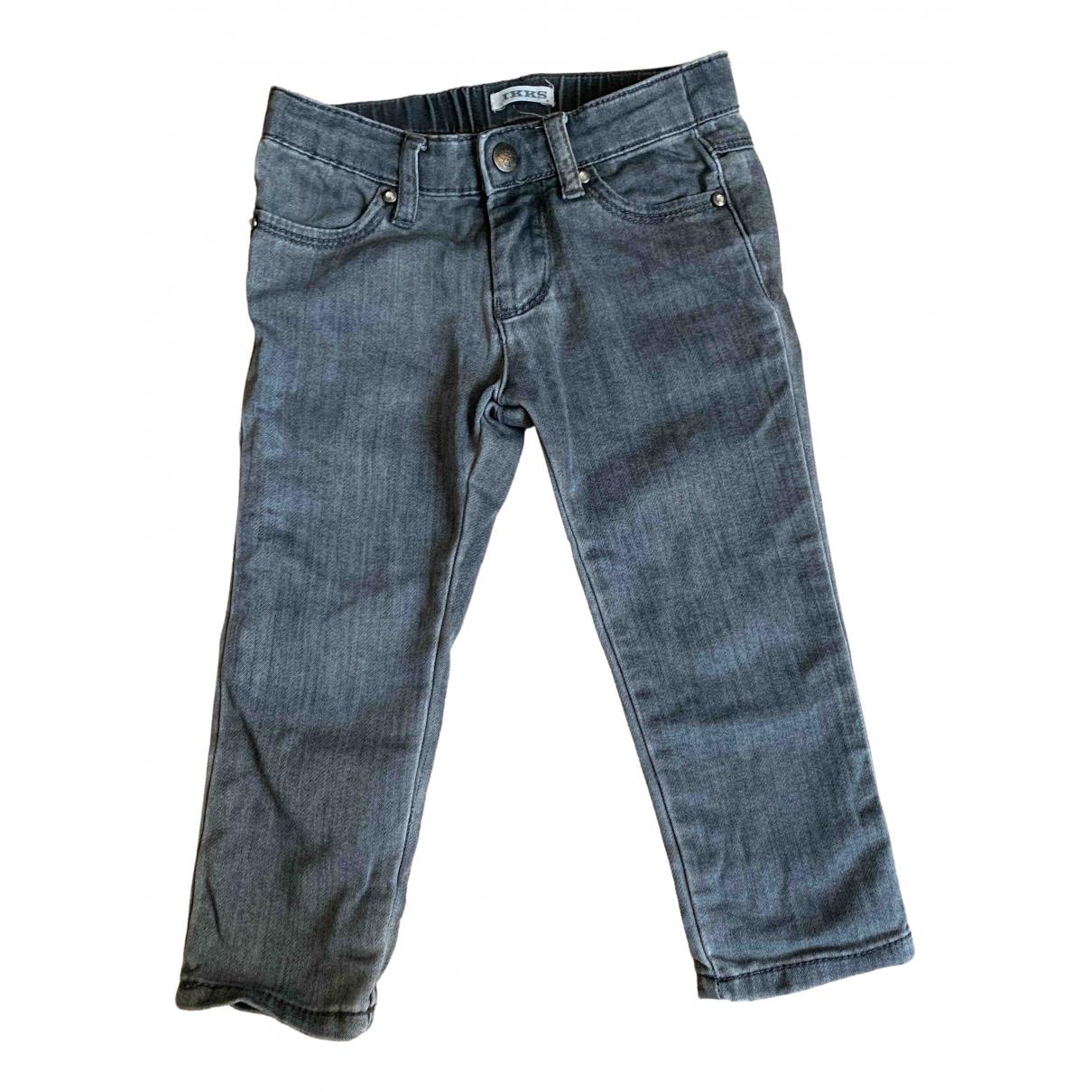 Ikks - Pantalon   pour enfant en denim - gris