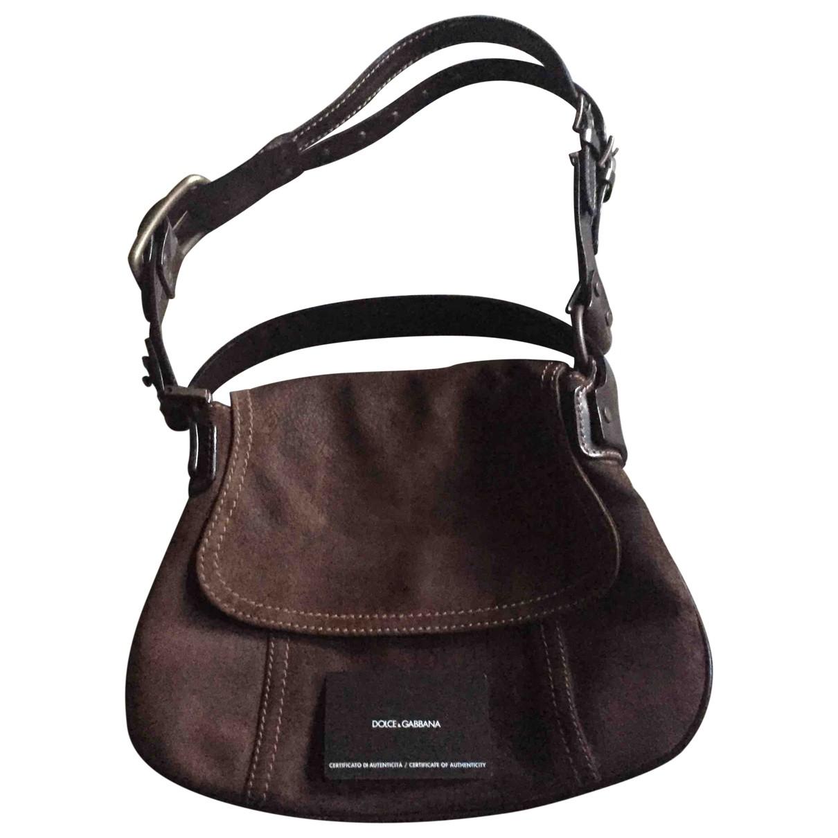 Dolce & Gabbana \N Handtasche in  Braun Veloursleder