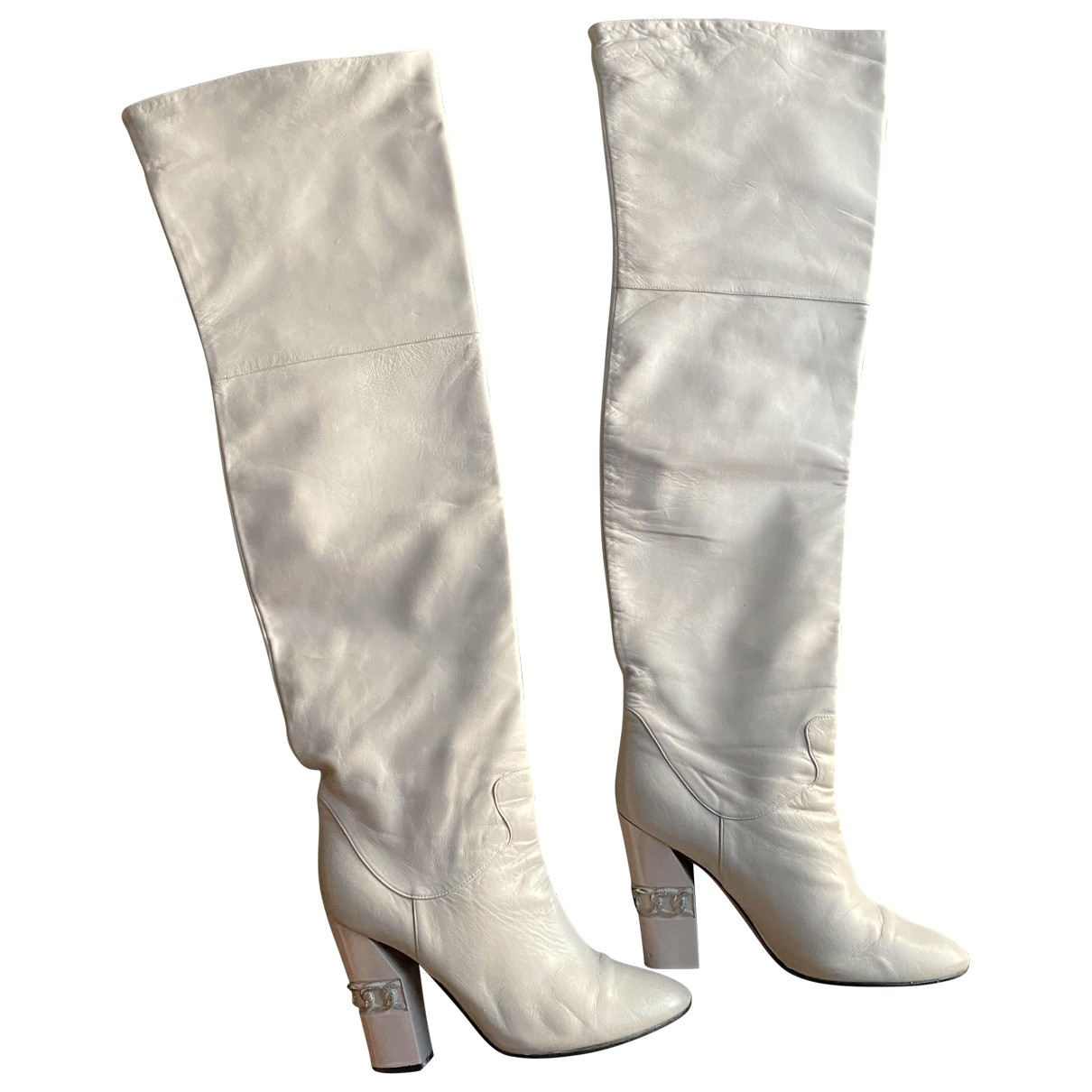 Casadei \N Pink Leather Boots for Women 10 US