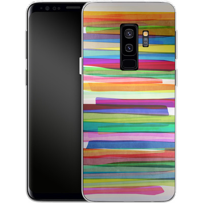 Samsung Galaxy S9 Plus Silikon Handyhuelle - Colorful Stripes 1 von Mareike Bohmer