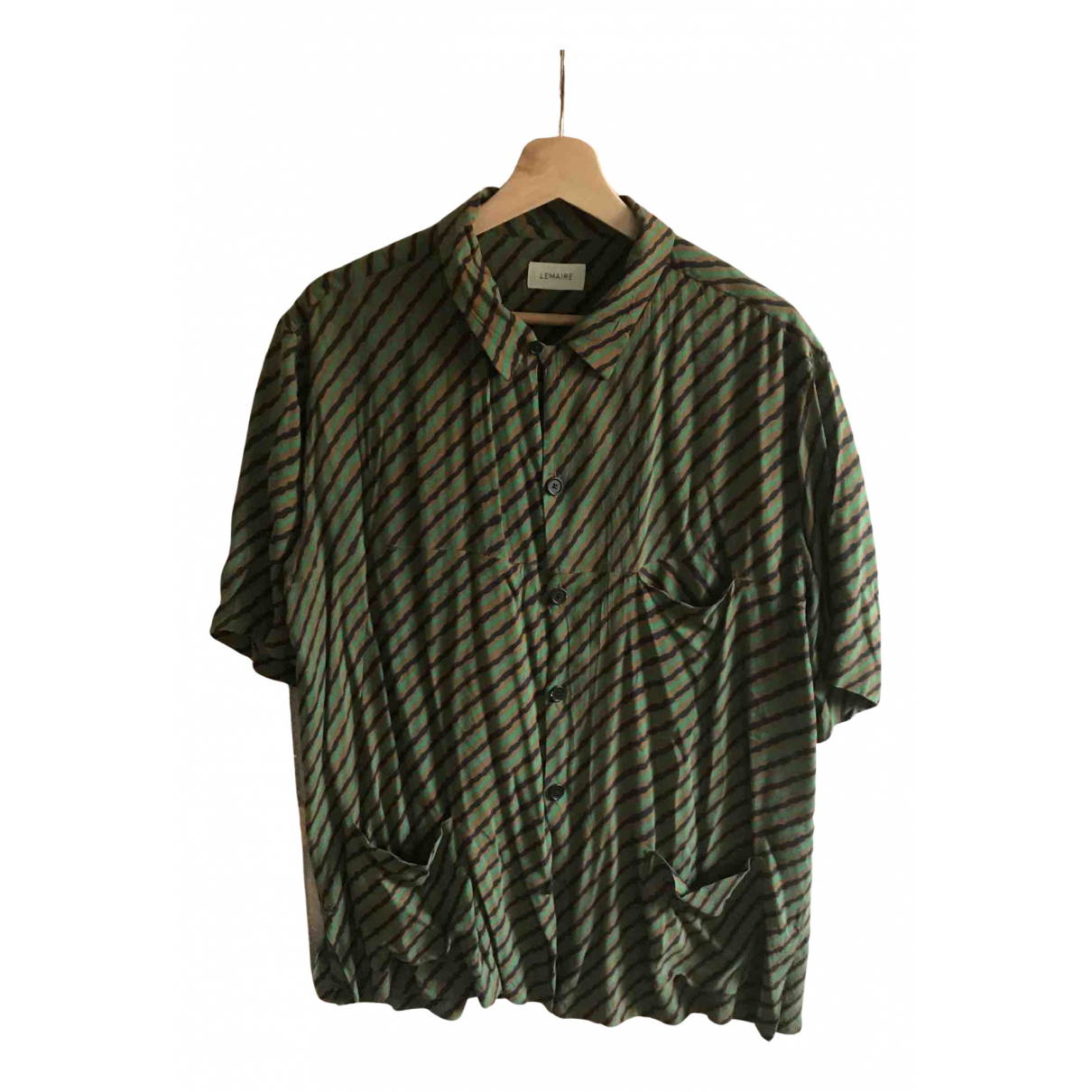 Lemaire N Green Cotton Shirts for Men L International