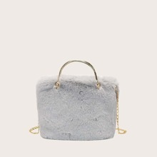 Minimalistische flaumige Tasche