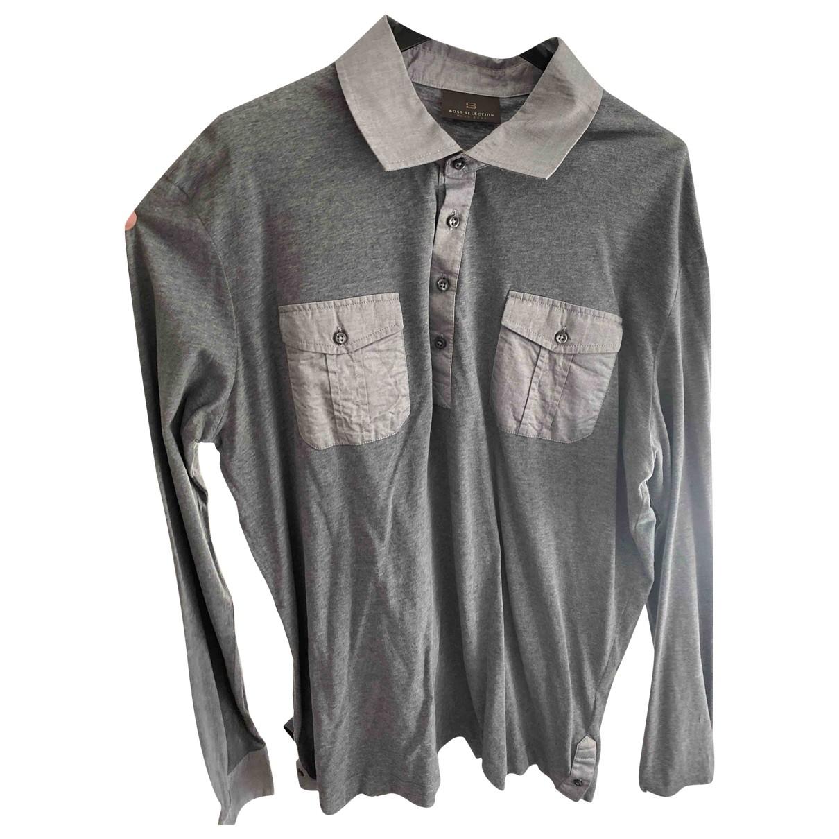Boss \N Poloshirts in  Grau Baumwolle
