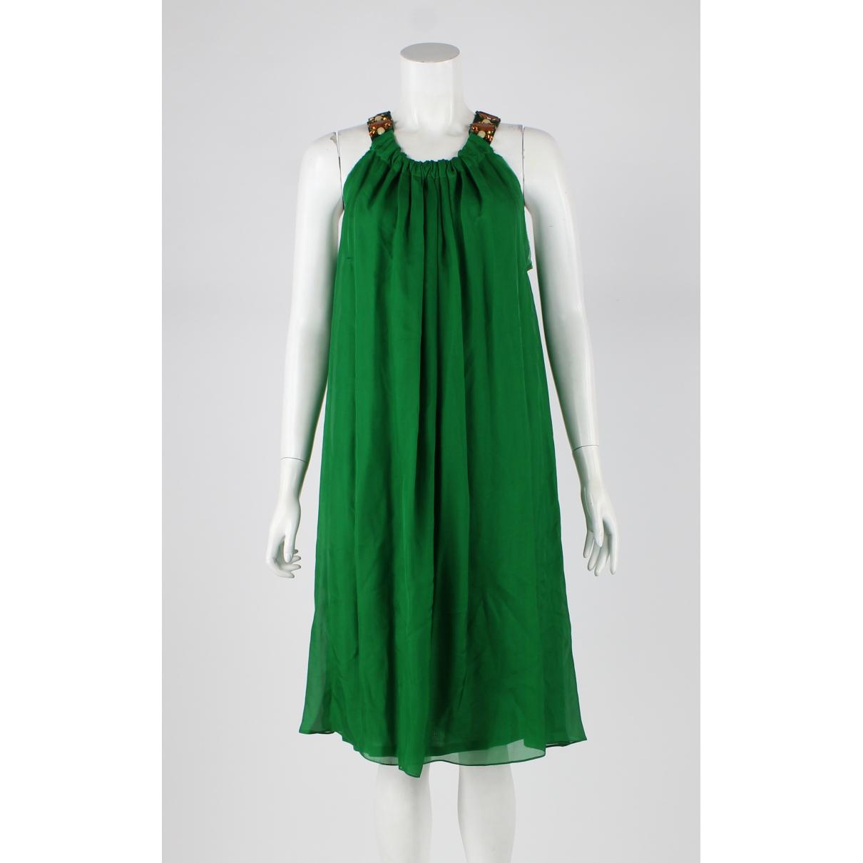 Lanvin - Robe   pour femme en soie - vert