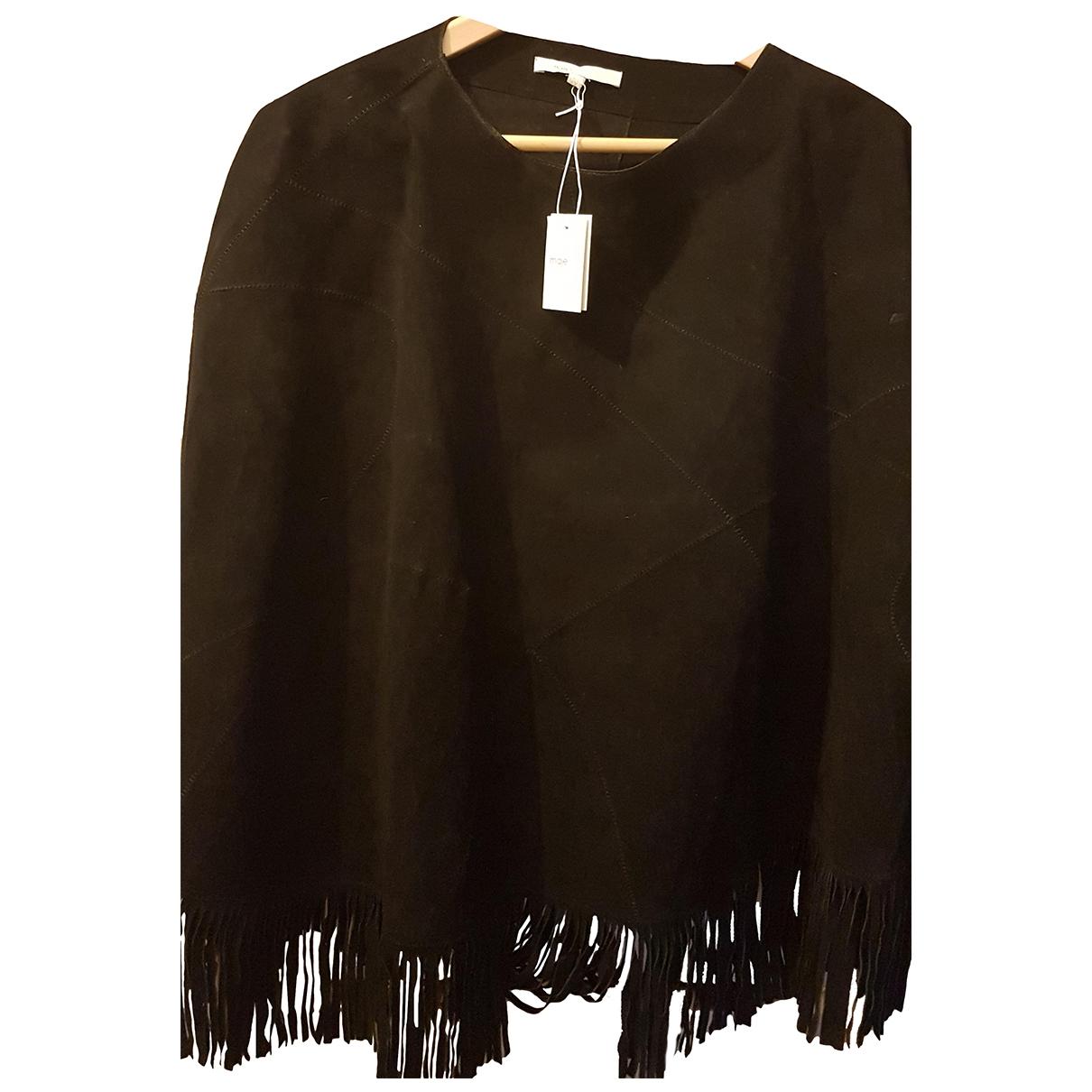 Maje \N Black Leather jacket for Women One Size FR