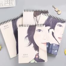 1pack Girl Print Cover Random Sketchbook