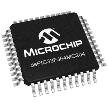 Microchip dsPIC33FJ64MC204-I/PT , 16bit Digital Signal Processor 40MHz 64 kB Flash 44-Pin TQFP