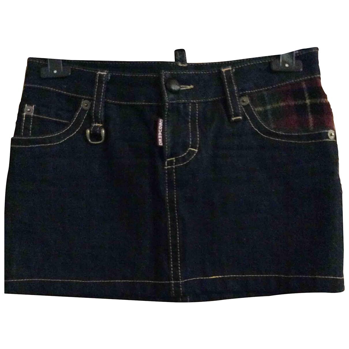 Dsquared2 \N Blue Denim - Jeans skirt for Women 42 IT