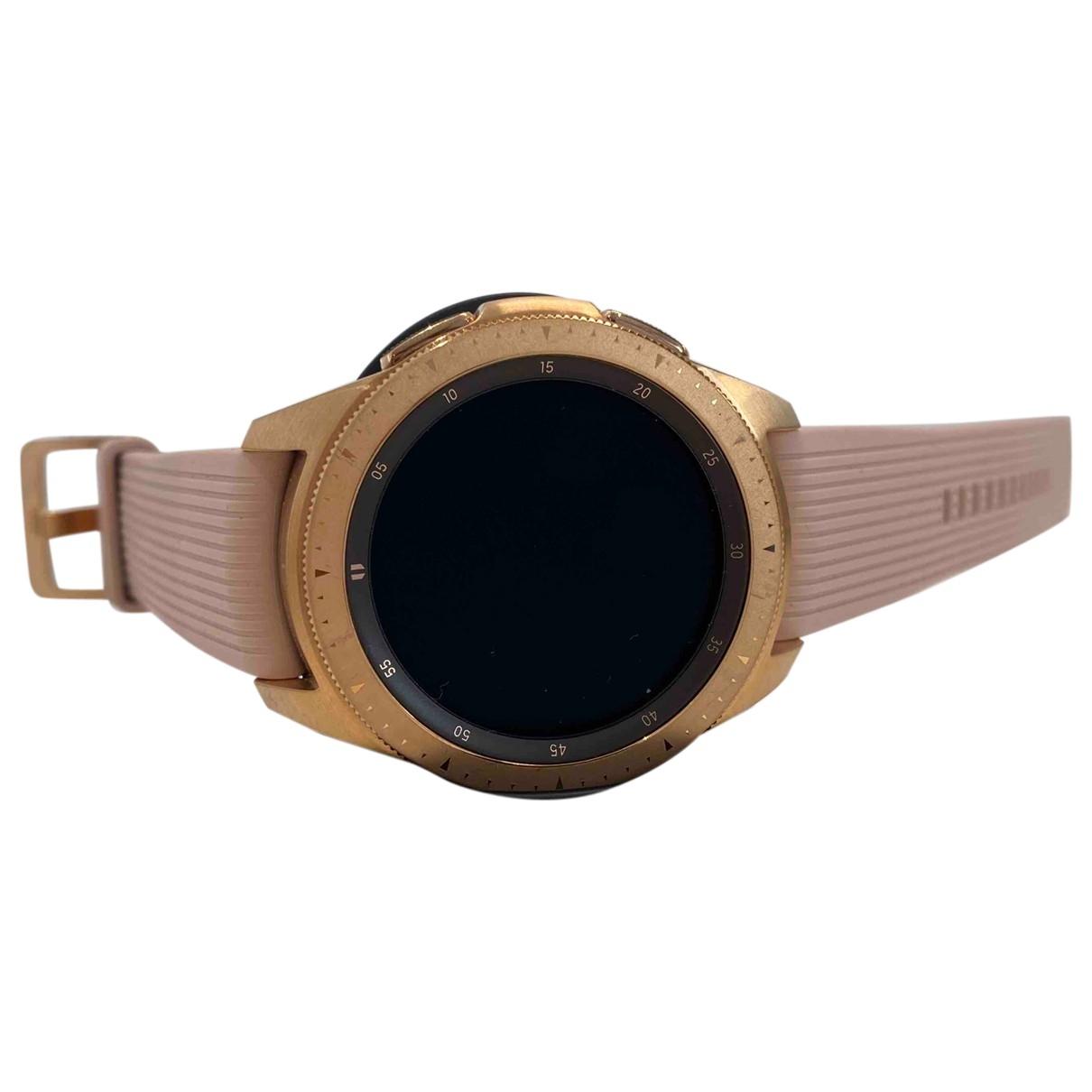 Samsung \N Pink Steel watch for Women \N