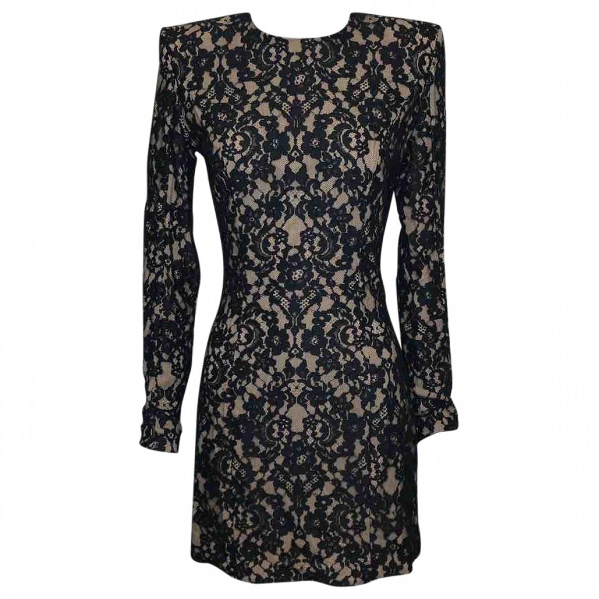 Balmain \N Kleid in  Schwarz Baumwolle