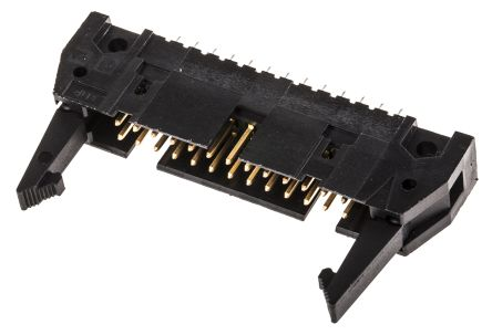 TE Connectivity , AMP-LATCH, 26 Way, 2 Row, Straight PCB Header