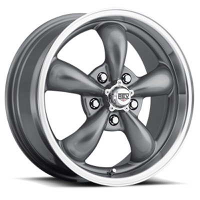 Classic 17X8 5X120.65 -12MM Silver 25 Lbs Anthracite Aluminum Wheels 100 Classic Series REV Wheels 100S-7806012