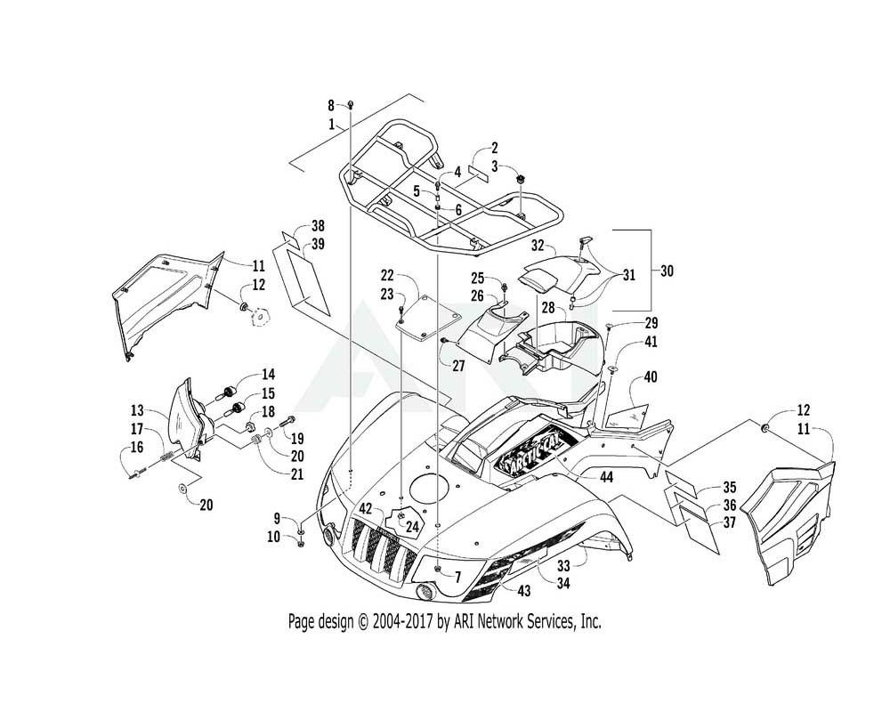 Arctic Cat OEM 2516-987 Fender Front Assembly N.Blue   (Inc. 34 40)