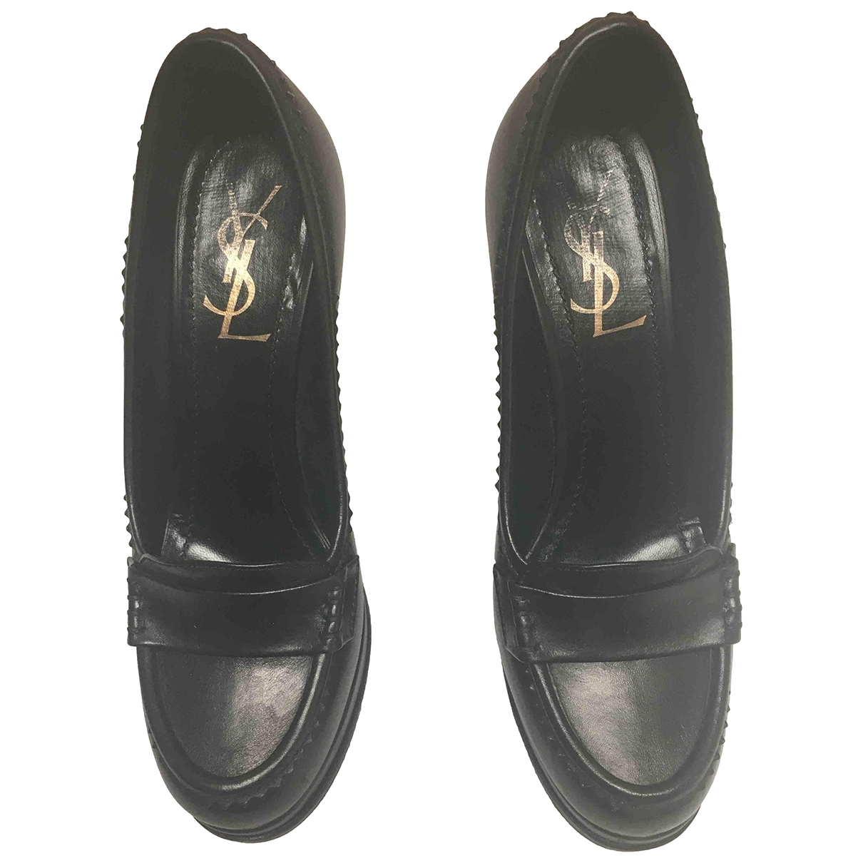 Yves Saint Laurent \N Stiefeletten in  Schwarz Leder