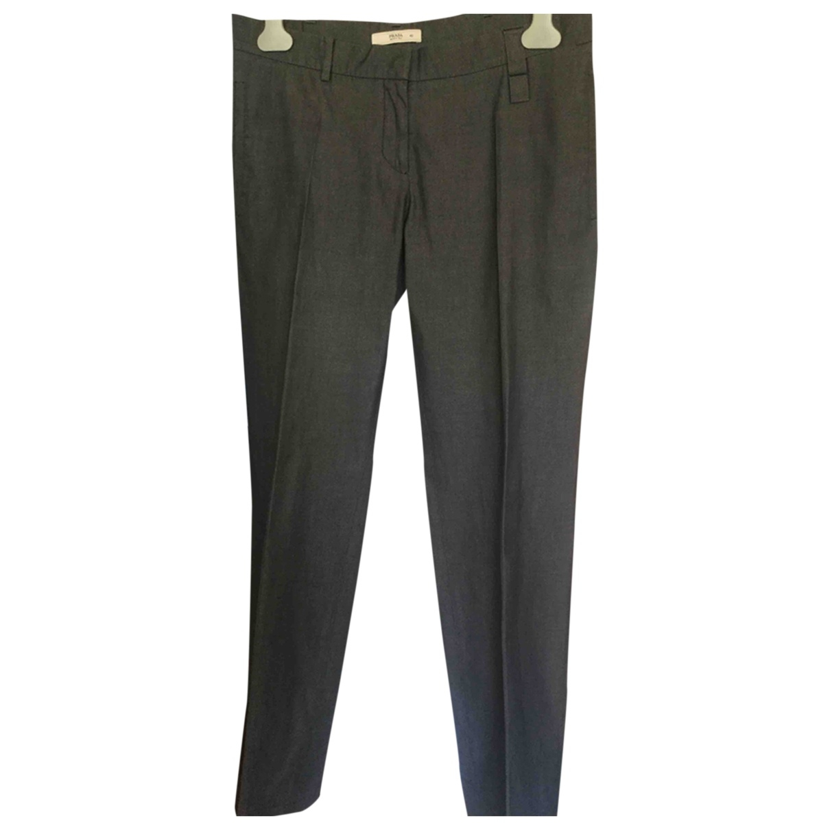 Prada \N Grey Cotton Trousers for Women 42 IT