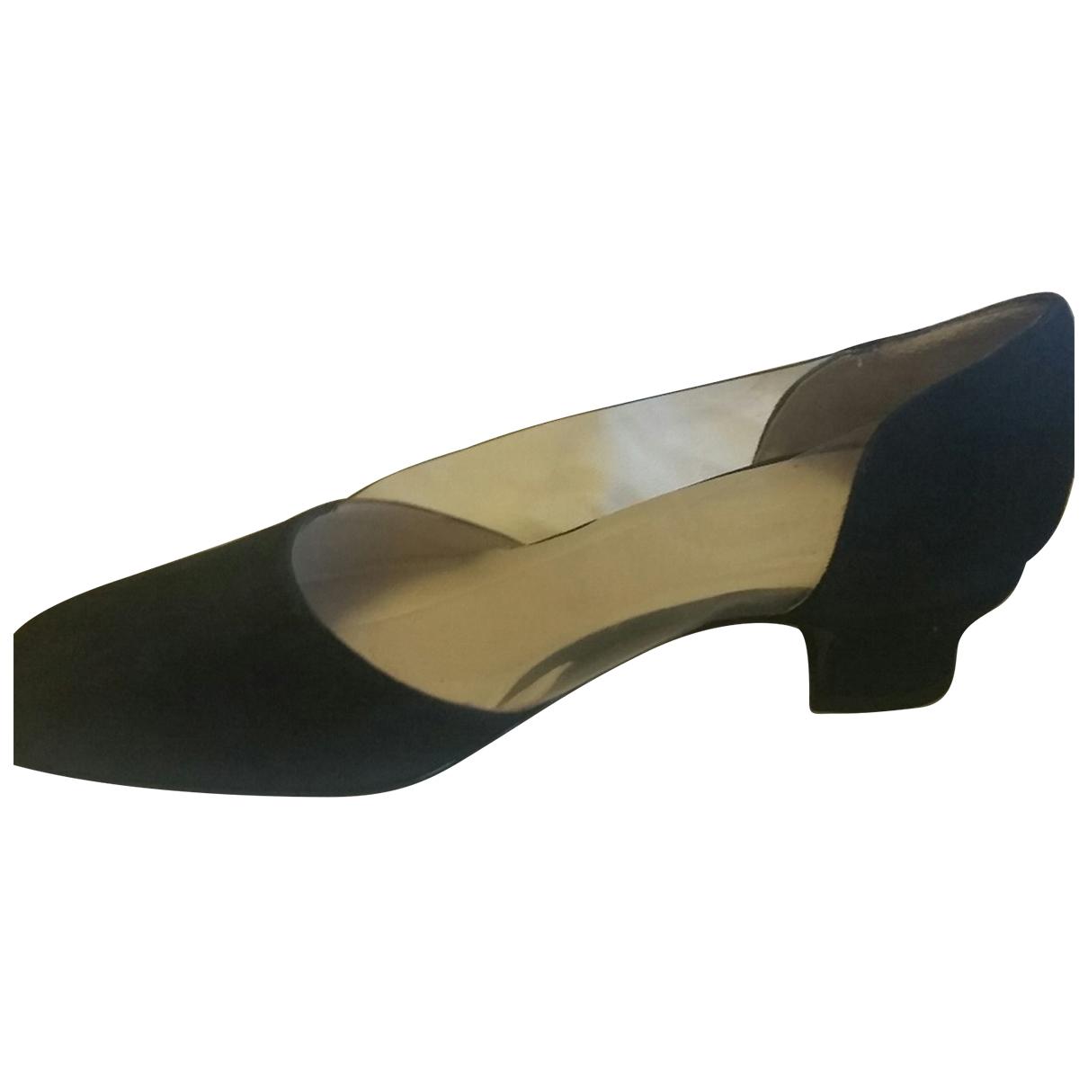 Giorgio Armani - Ballerines   pour femme en cuir - noir