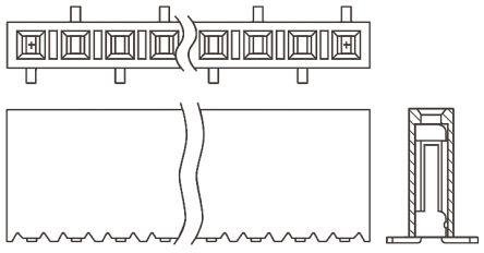 Samtec , SSM 2.54mm Pitch 12 Way 1 Row Straight PCB Socket, Surface Mount, Solder Termination
