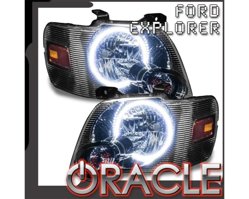 Oracle Lighting 7736-335 Pre-Assembled Headlights LED Halo Kit White Ford Explorer 2008-2010 ColorSHIFT - BC1