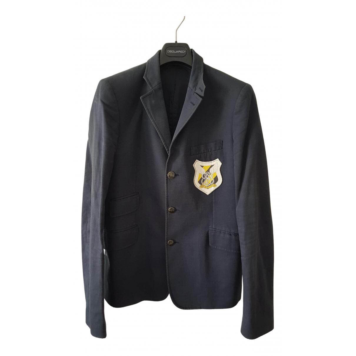 Balenciaga N Blue Cotton jacket  for Men 50 IT