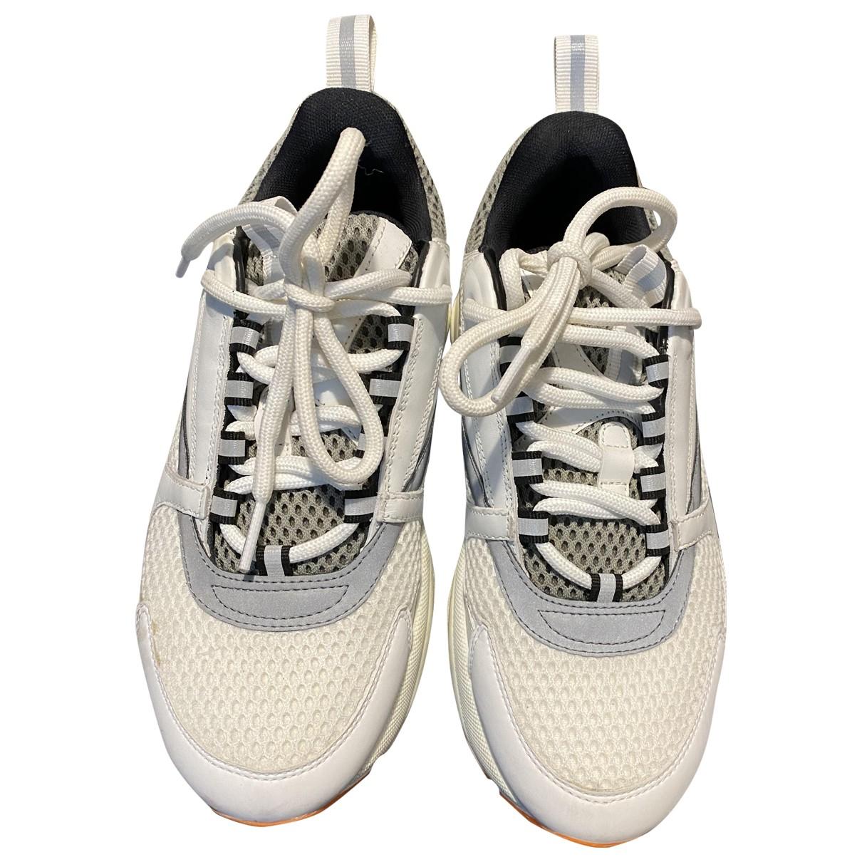 Dior - Baskets B22 pour femme en toile - blanc