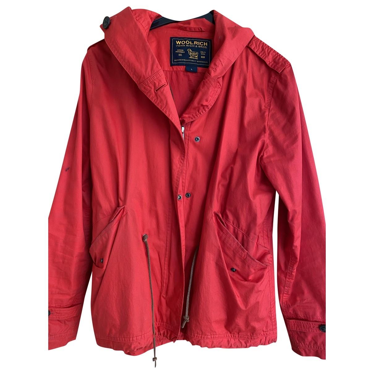 Woolrich \N Jacke in  Rot Baumwolle