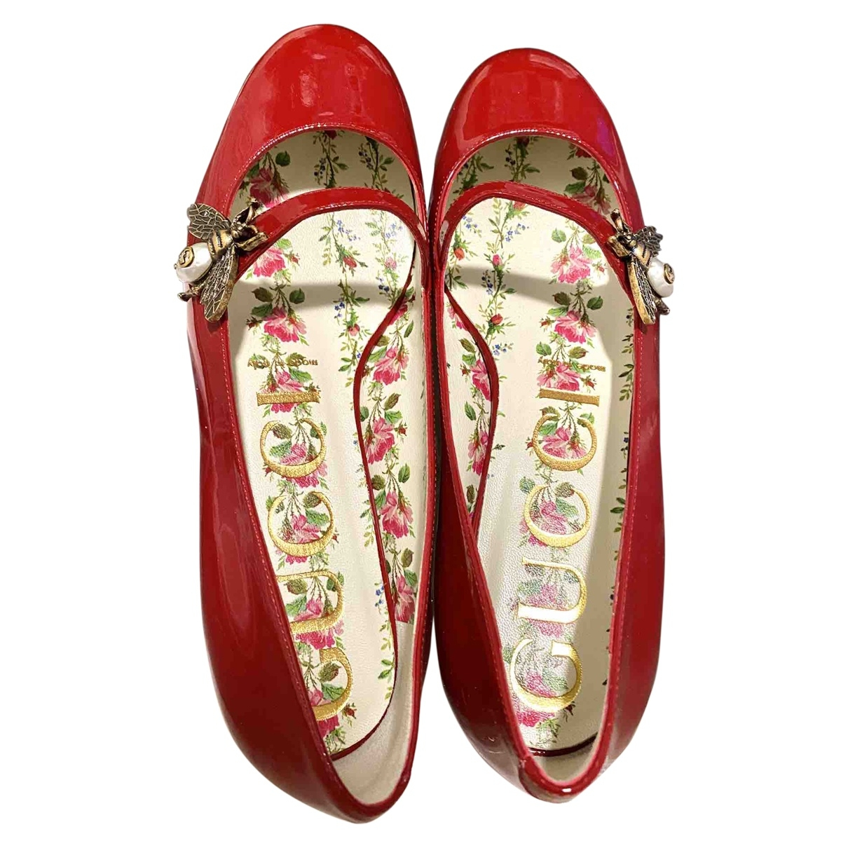 Gucci \N Ballerinas in  Rot Lackleder