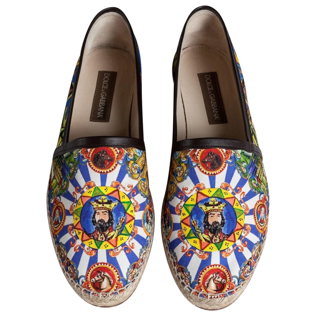 Dolce & Gabbana - Espadrilles   pour homme en toile - bleu