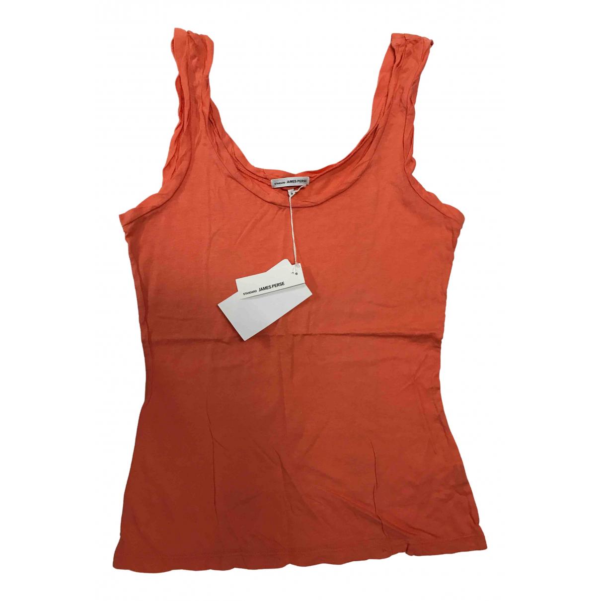 James Perse \N Top in  Orange Baumwolle