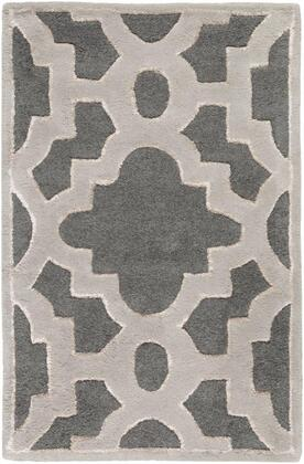 CAN2040-58 5' x 8' Rug  in Charcoal and Medium Gray and