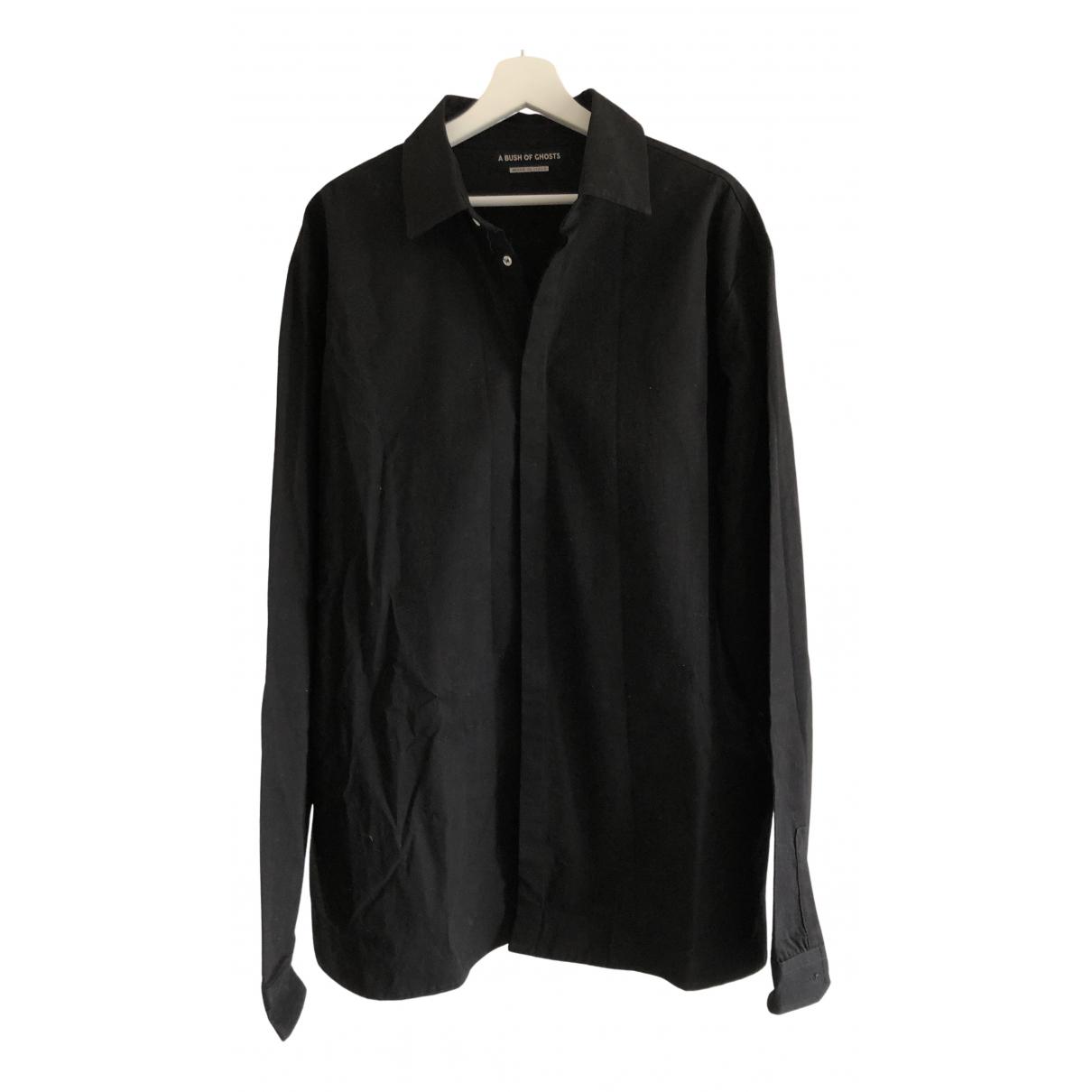 - Chemises   pour homme en coton - noir