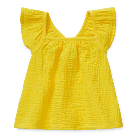 Okie Dokie Baby Girls Round Neck Tank Top, 18 Months , Yellow
