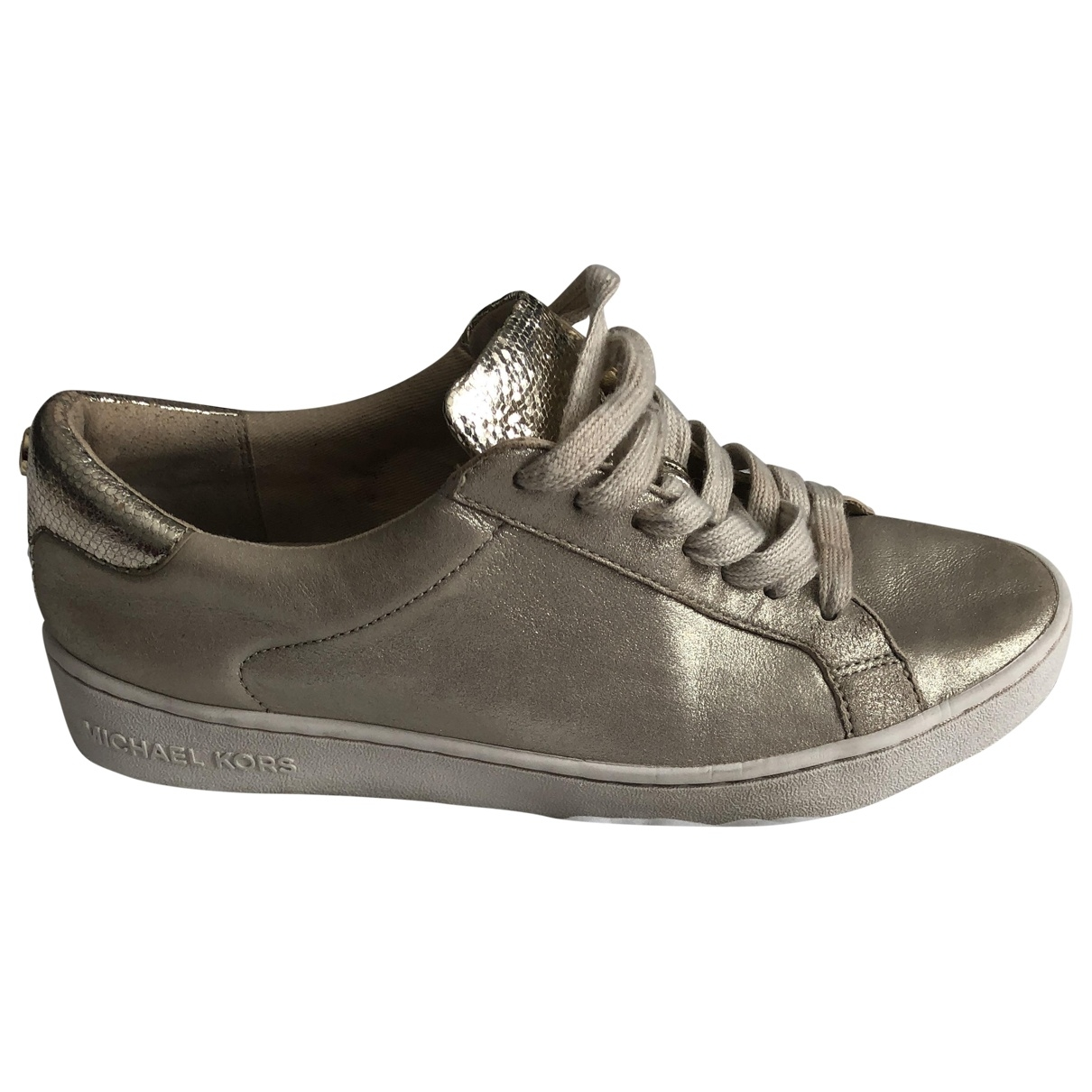Michael Kors \N Gold Patent leather Trainers for Women 37.5 EU