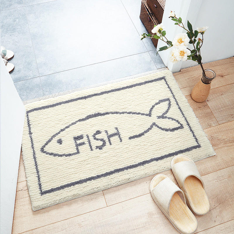 Nordic Style Simple Style Water Absorption Anti-Slip Area Rug