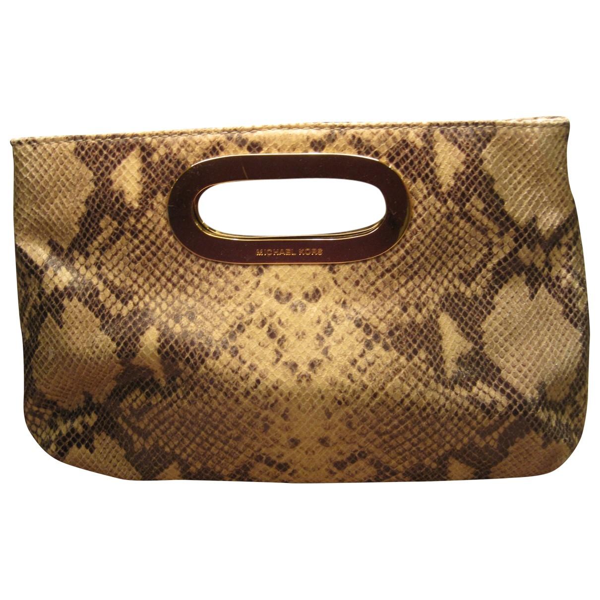 Michael Kors \N Beige Python Clutch bag for Women \N