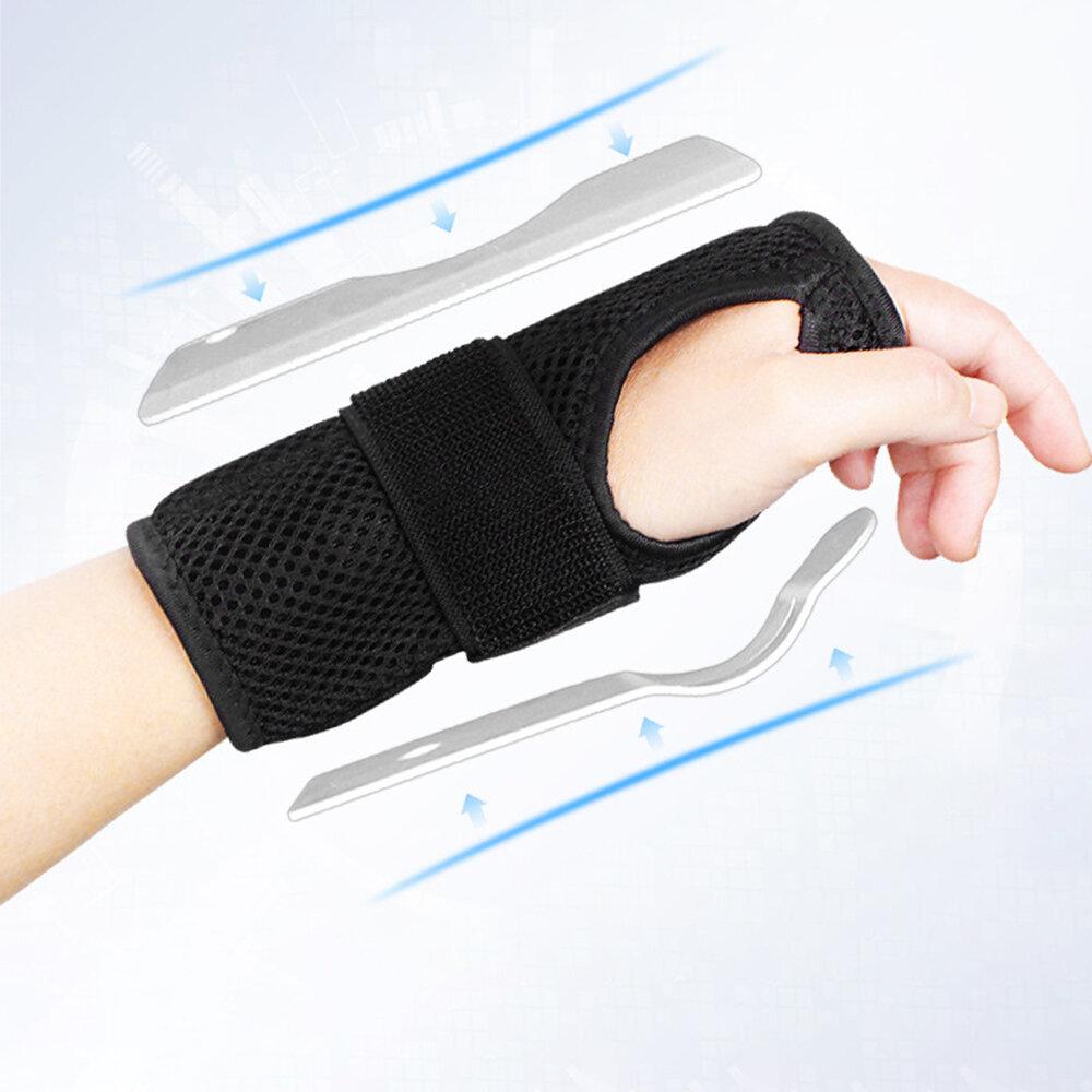 Unisex Rehabilitation Wrist Fixation Belt Breathable Metal Plate Bracer Fixed Sprain Wristband