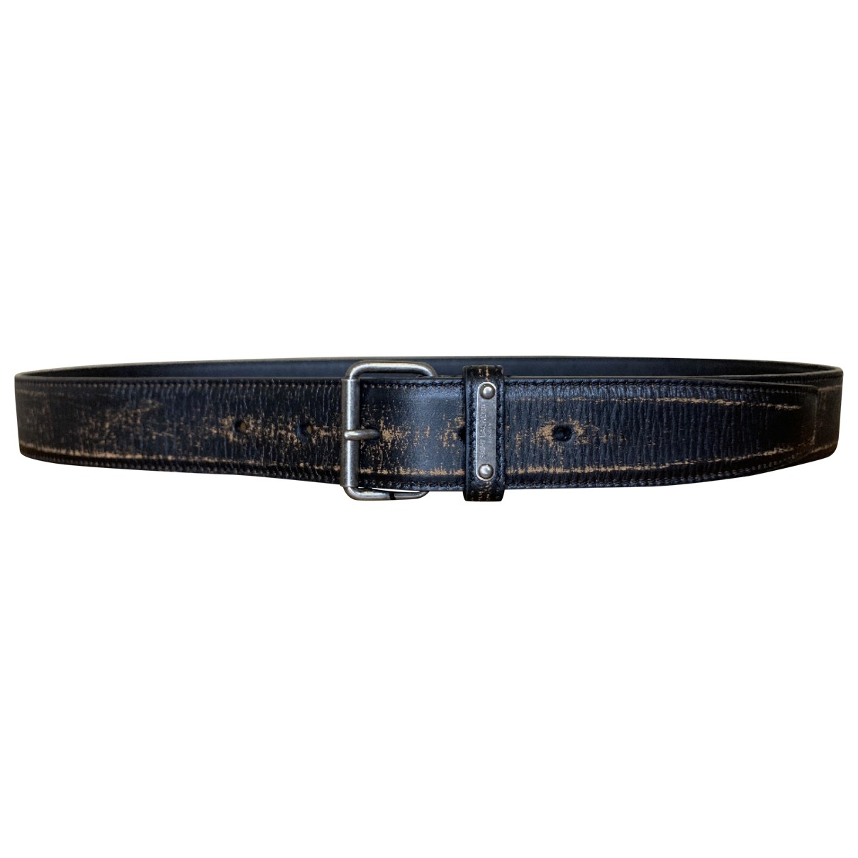 Saint Laurent \N Black Leather belt for Men 85 cm