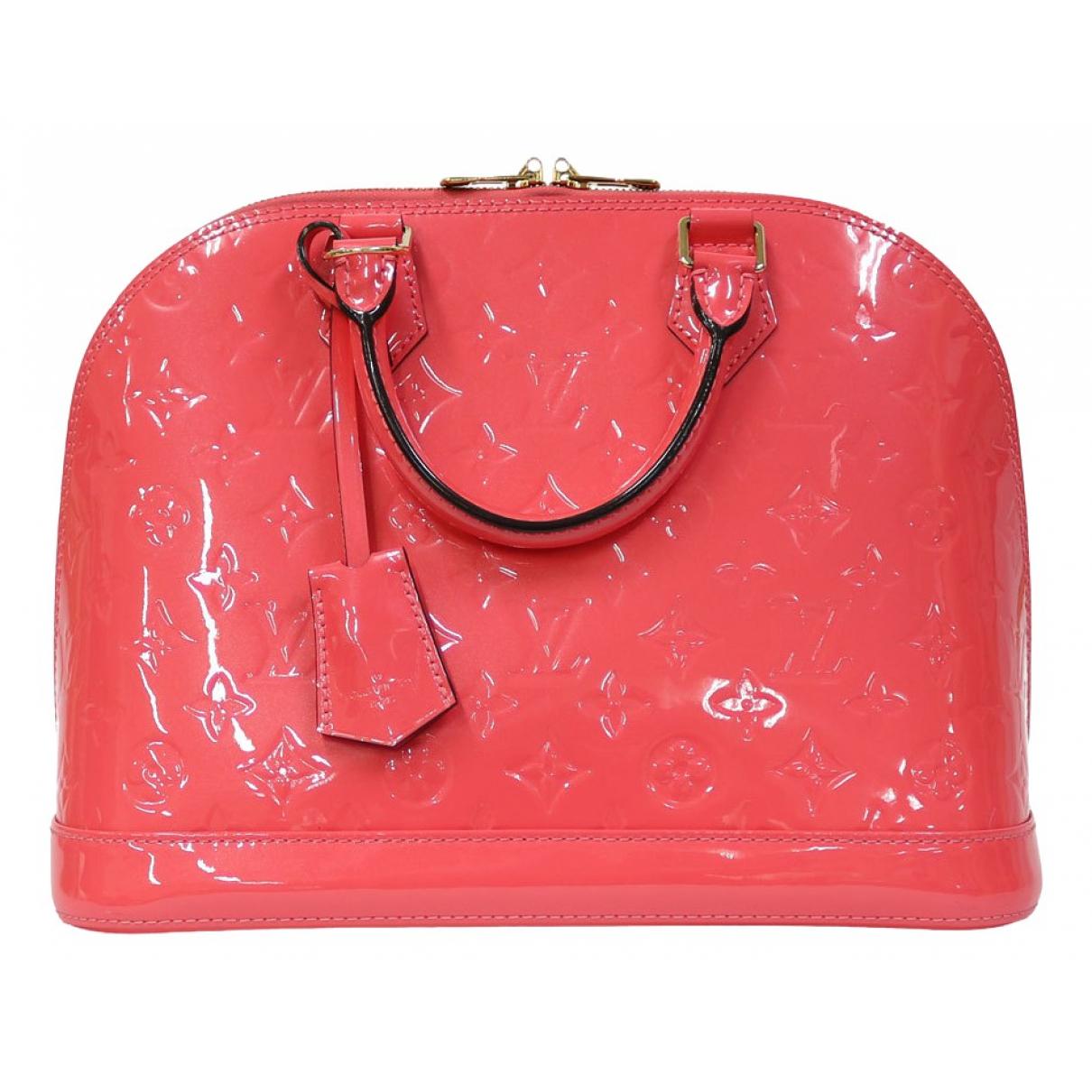 Louis Vuitton Alma Pink Patent leather handbag for Women \N